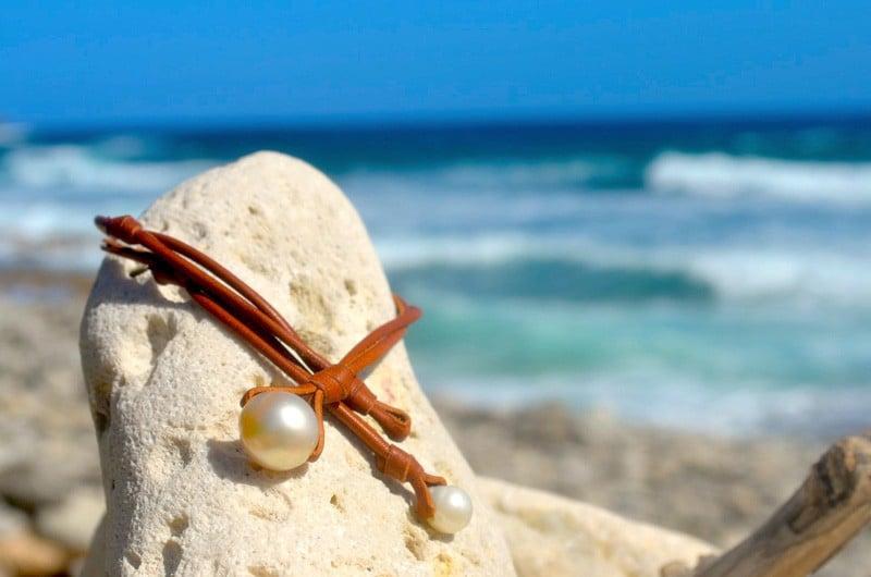 Pendentif perle baroque d'Australie