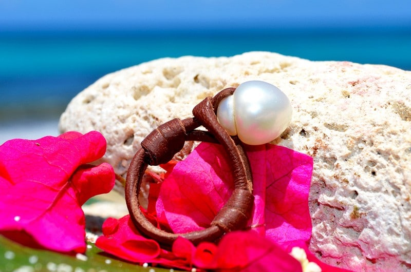 Ring 1 Australian white pearl - 10mm