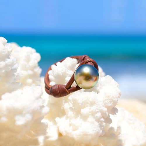 Ring 1 Tahitian pearl - 10mm