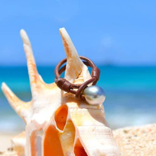 Ring 1 Tahitian pearl - 9mm