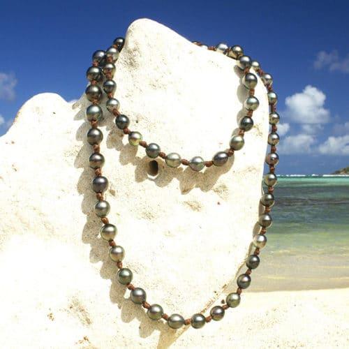 Sautoir 68 perles de Tahiti