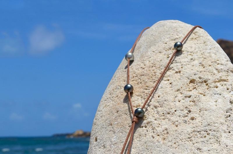Sautoir 7 perles de Tahiti