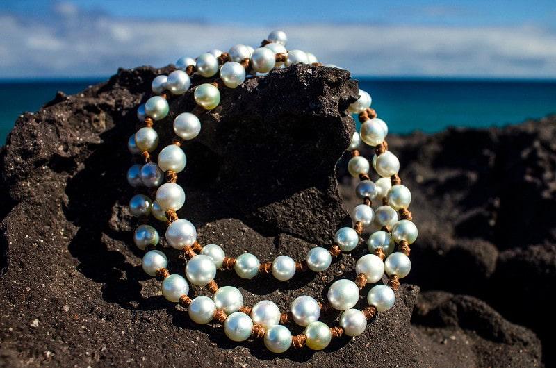 Sautoir 70 perles d'Australie
