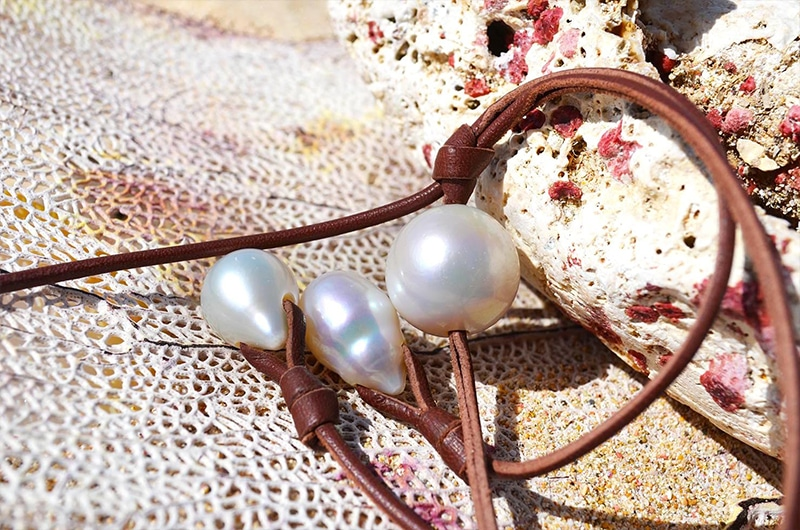 Sautoir perles d'eau douce