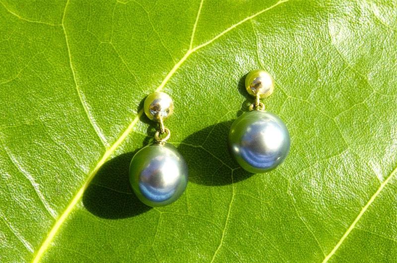 Tahitian Pearl Earrings (9,5mm)