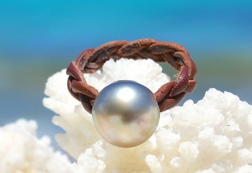 Tahitian Pearl Ring - Kalinas Perles