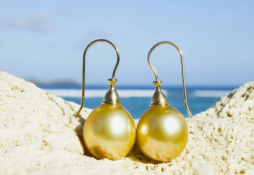 Australian Pearl Earrings - Kalinas Perles