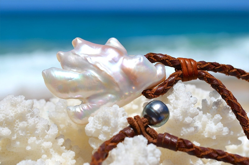 Braided Necklace Baroque Freshwater Pearl