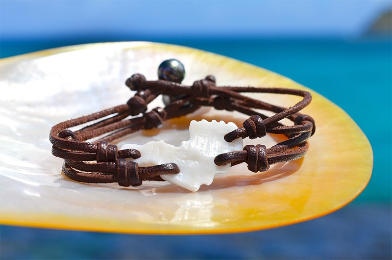 St Barth shell bracelet