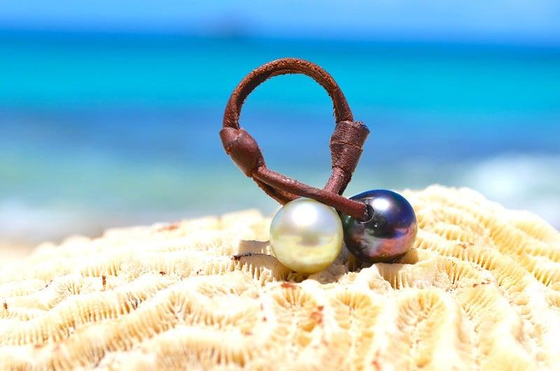 You & me ring tahitian, australian pearls - 11mm