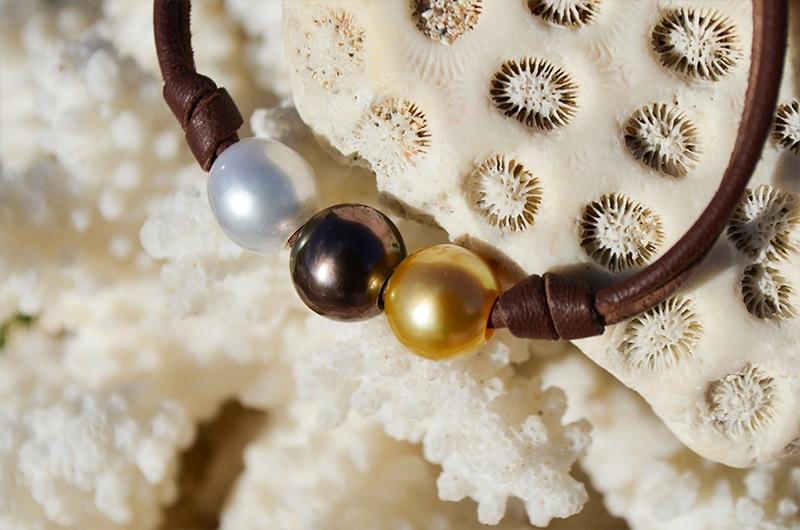 Bracelet 3 Colors pearls (9,5mm)