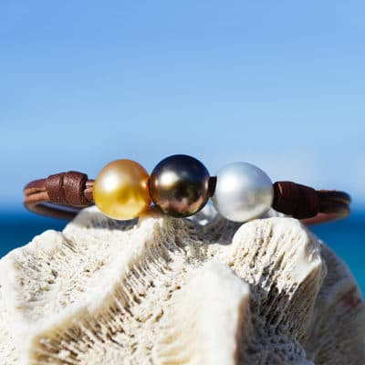 Bracelet 3 Colors pearls (9,5mm)