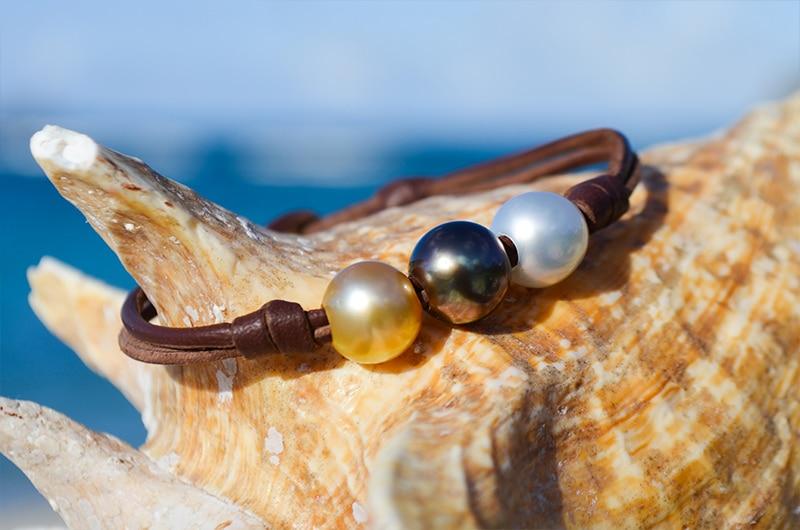 Bracelet 3 perles Couleurs (9,5mm)