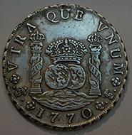 Pièce de monnaie colonnaire